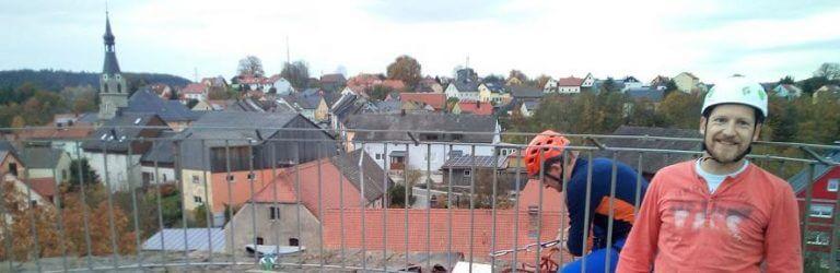 Blick auf Neuhaus vom Butterfassturm