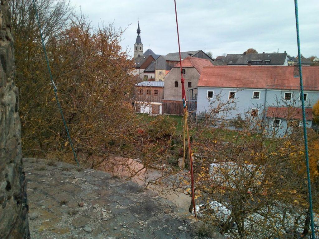 Butterfassturm Neuhaus, Seileinsatz
