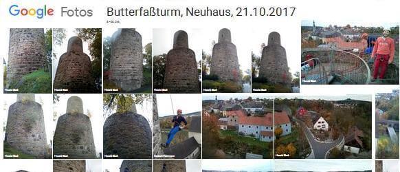 Collage von Entgrünung Butterfasssturm Neuhaus, Bilder in Google-Fotos